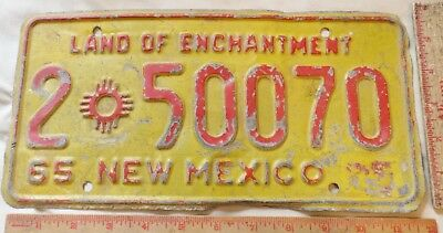 Vintage 1965 New Mexico license plate NM New Mex car garage old collectible tag