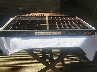 Antique French Letter press printer tray