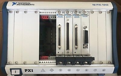 National Instruments / NI PXI-1042 PXI Chassis 8-SLOT with 4 switch cards