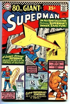 SUPERMAN #187 comic book 1966-80 PAGE GIANT-DC COMICS-FORTRESS