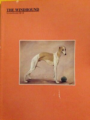4 Dog Magazines The Windhound 1989 + 1990 Whippet Greyhound Cover Out Of Print