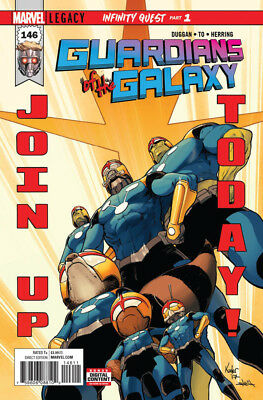Guardians Of The Galaxy #146 Marvel Legacy - 1St Print - Boarded. Free Uk P+P
