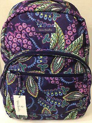 Vera Bradley BATIK LEAVES Essential Campus School LIGHTEN UP BACKPACK Tote NWT