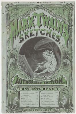 First Edition, First State of Mark Twain's Sketches. Illus. Sperry. NY, 1874.