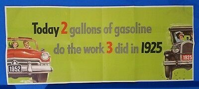 1952 gasoline advertising sign