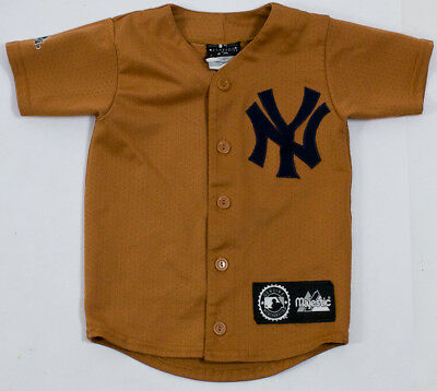 Vintage New York Yankees Retro Jersey Kids Small Spring Training Opening Day