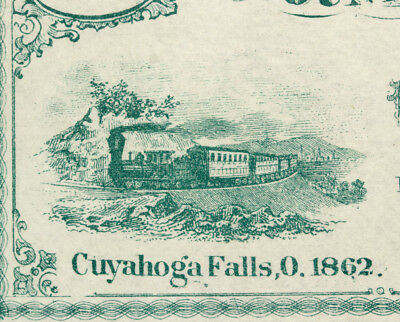 USA 10 CENTS 1862 SUMMIT COUNTY BANK CUYAHOGA FALLS NOTE IN UNC condition.