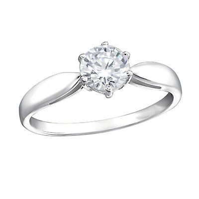 Melchior Jewellery 925 Sterling Silver SOLITAIRE Engagement RING Gift Boxed