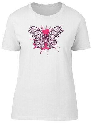 Lovely Paisley Floral Butterfly Women's Tee -Image by Shutterstock