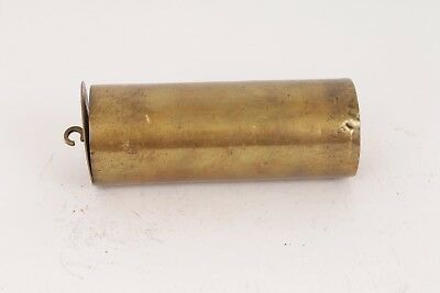 Antique Brass Encased Lead Longcase Regulator Clock Weight 1211 grams
