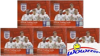 (5)Topps England EXCLUSIVE Factory Sealed Soccer Box f/Japan-DAVID BECKHAM $750