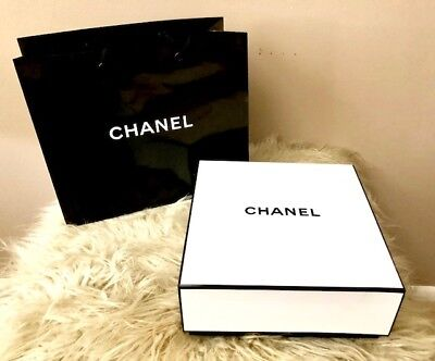 da5fc8ce6f5427 CHANEL GIFT BOX With Gift Bag 8.5in X 8.5in BRAND NEW - $9.99 | PicClick