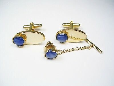 ca087bf761bd Vintage Cuff Links Set with matching tie clip Mad Men Style 1960' Mens  jewelry
