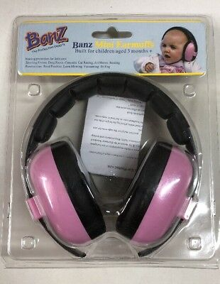 Banz Mini Earmuffs for Children Aged 3 months+, Petal Pink