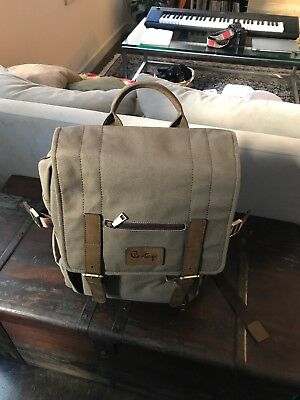Portage   Kenora   Leather & Waxed Canvas Backpack for Camera, Laptop, & Gear