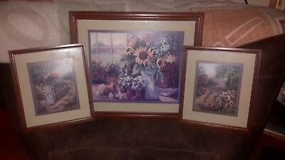 "homco home interior grouping """"""sunflower """""" by JOAN COLE ((GREAT CONDITION )))"