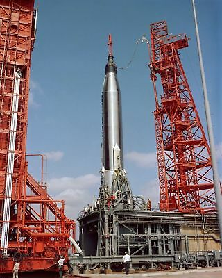 Faith 7 Spacecraft On Pad Prior To Launch Gordon Cooper 8X10 Nasa Photo Print