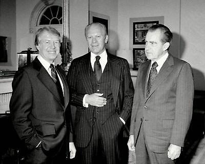 President Jimmy Carter With Gerald Ford And Richard Nixon - 8X10 Photo Print