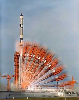 Time-Lapse Of Pad 19 Prior To The Gemini 10 Launch - 8X10 Nasa Photo Print