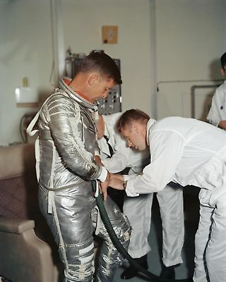 Wally Schirra Mercury Astronaut Fitted In Flight Suit - 8X10 Nasa Photo Print
