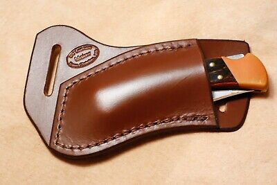 Custom Leather Crossdraw Sheath for Buck 110/112 Knife (left hand)