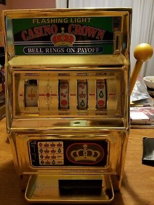 Vintage WACO Flashing Light Casino Crown Bell Rings on Payoff Slot Machine Bank