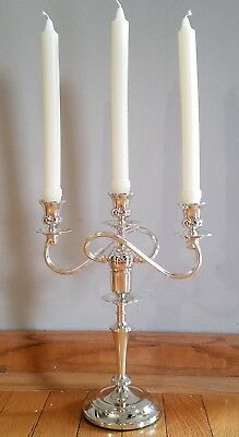 3 Light Candelabra Wm A Rogers silverplate - brand new - 4 available
