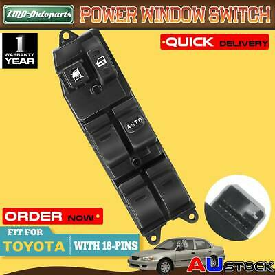 Master Window Switch for Toyota Corolla ZZE122 2001-2007 Front Driver Side 18Pin