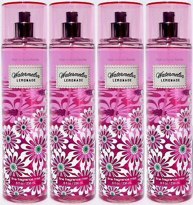 4 Bath & Body Works WATERMELON LEMONADE Fragrance Body Mist Spray