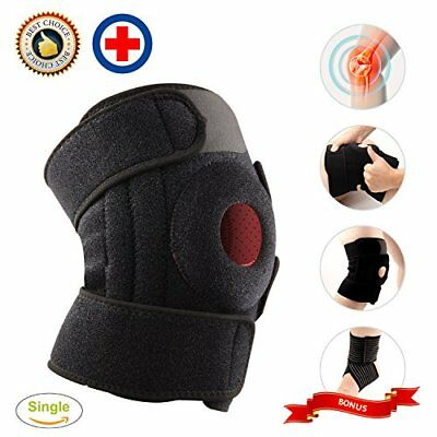 Knee Brace Support Adjustable Wrap Pain Relief Compression Sleeve Open Patella