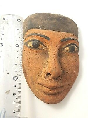 Rare Ancient Egyptian Painted Polychrome Stone Mask - Ancient Art & Antiquities