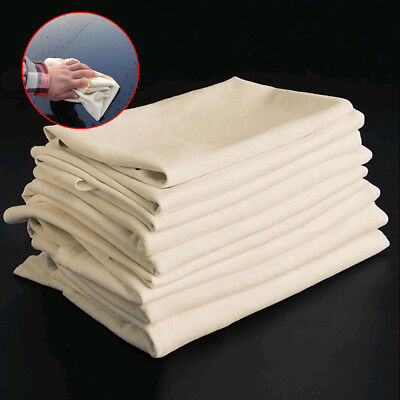 25x40cm Natural Drying Chamois Cleaning Leather Sheepskin Towel Washing Cloth