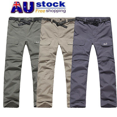 AU Men Outdoor Trousers Windproof Waterproof Quick Drying Sport Ski Hiking Pants