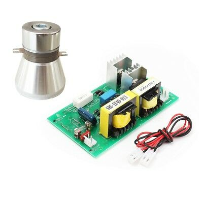 28KHz 100W Ultrasonic Cleaning Transducer Cleaner +Power Driver Board 220VAC New