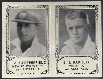 Barratt-Famous Cricket Folders X34 1934- New South Wales Victoria - Barnett