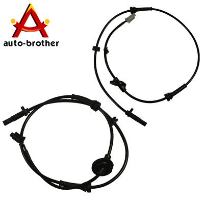 Front Left & Right ABS Wheel Speed Sensor 2pcs For Nissan Murano 2003-2007 3.5L