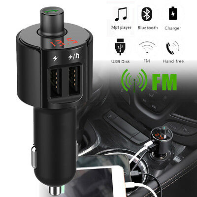 Bluetooth Car FM Transmitter Wireless Radio Adapter MP3 Player USB Qiuck charger