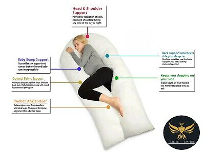 9ft U Shaped Pillow - Total Body Comfort Ideal for Pregnancy & Maternity Use