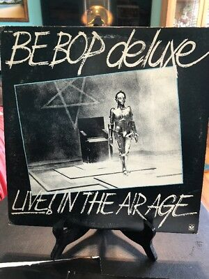 BE BOP DELUXE Live In The Air Age Lp SKB-11666 Black / White Wax Vinyl Record