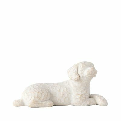 """Willow Tree Love My Dog Small 1"""" Lying Pet Sentiment Figure Ornament Gift"""