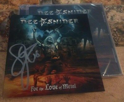 DEE SNIDER For the Love of Metal CD SIGNED Autographed Twisted Sister