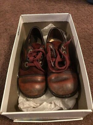 Vintage Child Mother Goose Shoes Leather And Velvet. Brown