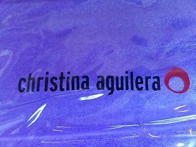 Vintage 1999 Christina Aguilera Xtina Purple Clear Makeup Bag Rare Promo