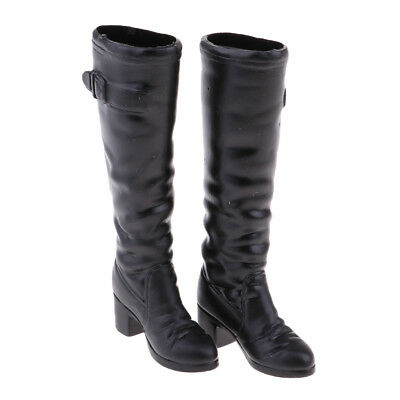 1/6 Scale Female Fashion Mid-calf Knee High Heel Boots for 12'' Kumik Doll