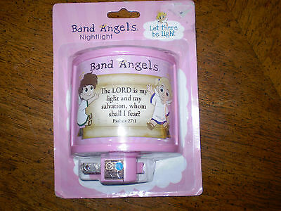 Baby Night Light Band Angels Nursery Pink Girls The Lord is My Light & Salvation