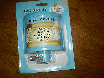 Baby Night Light Band Angels Nursery Blue Boys The Lord is My Light & Salvation