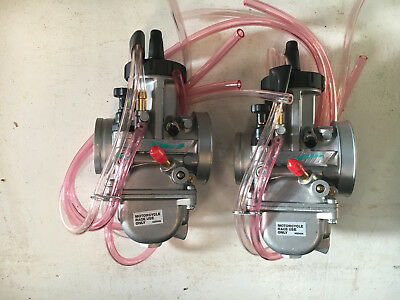 Yamaha Banshee 40mm Keihin PWK Carbs Carb Set Pair 40 Cheetah Cub Drag Race