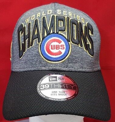 9af6681d65f Chicago Cubs MLB 2016 World Series Champions New Era 39Thirty flex cap hat