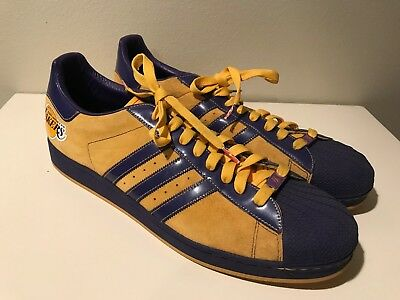 36c8d44fde7c Adidas Superstar Mens Sz 18 Los Angeles Lakers Nba Series Court Shoes  Sneakers
