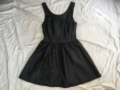 divided At H&m Black Faux Leather Pleather Skater Dress BNWT 8 Bargain Goth Fet